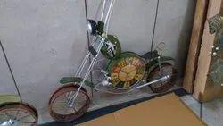 4ft Clock Dark Green Motorcycle With Headlight