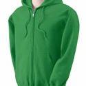 Green Casual Wear Men's Fancy Hoodie, Yes