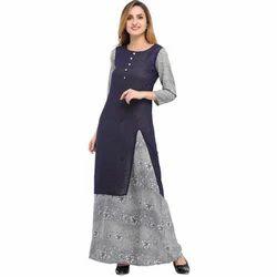 Cottinfab Printed Layered Dress