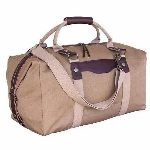 Polyester Brown Stylish Duffle Bag For