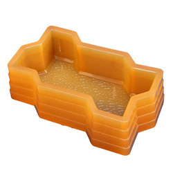 Yellow PVC Rubber Paver Block Mould