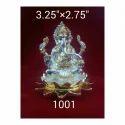 1001 Silver Plated Ganesha Statue