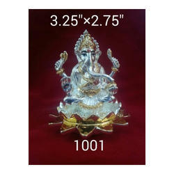 JSK Antique Silver 1001 Silver Coating Ganesha Statue, Packaging Type: Box
