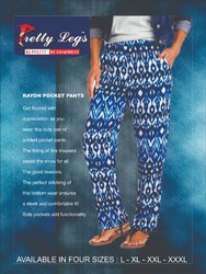 Rayon Printed Pocket Pants