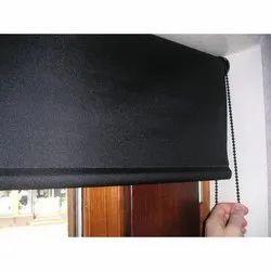 Black Cotton Plain Curtain for Window, Door