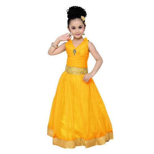 Yellow Party Wear Girls Gown For Kids Rs 545 Piece Shri