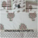 Hand Block Printed Cotton Reversible Malmal Dovar