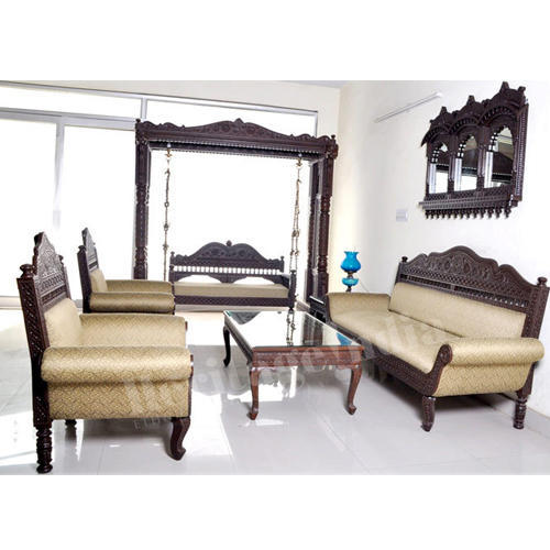 designer wooden sofa set including swing at rs 450000 set okhla rh indiamart com wooden sofa designs pictures wooden sofa design bd