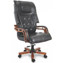 Office Dark Black Leather Chair