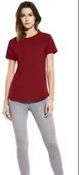 Aesthetic Apparels Half Sleeve Ladies Round Neck T-Shirt