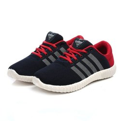 Mens Navy Red Synthetic Walking Shoes