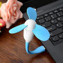 USB Sky Blue Plastic Fan