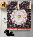 Astrology Mandala Printed Cotton Double Bed Sheet