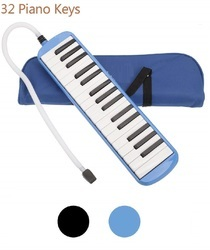 IRIN 32 Key Melodica With Case Musical Instrument Blue, Size: 38 X 4 X 12 Cm