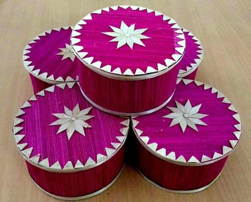 Pink Bamboo Box, Size/Dimension: 5 X 3h Inch