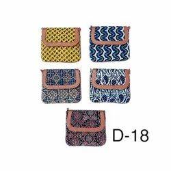 Ladies Handicraft Ajrakh Print Bags