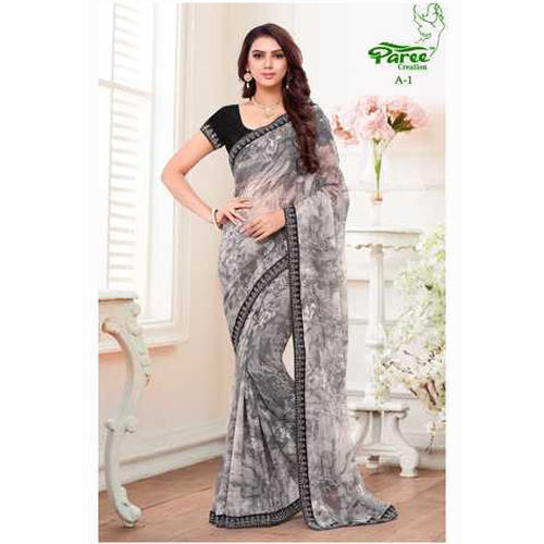 Georgette Printed Fancy Saree