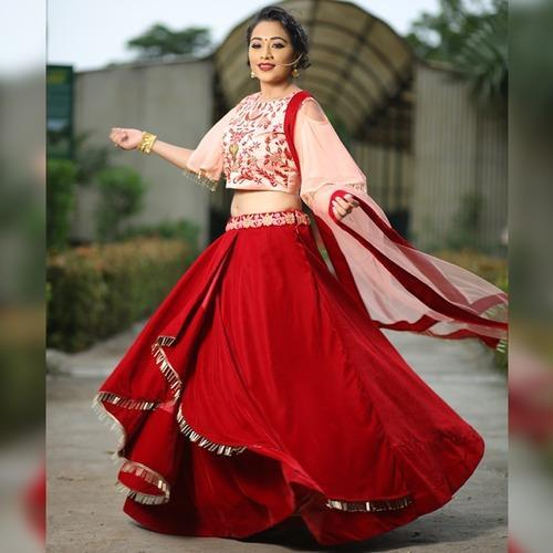 12bc8817b4e Ziva Exports 159-Red Velvet Crop Top, Rs 2700 /piece, SV Fashion ...