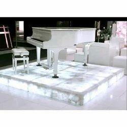 White Quartz Piano Stand