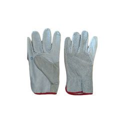 Cut Leather Hand Gloves