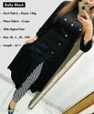 Baby Black Rayon Kurti And Palazzo Set