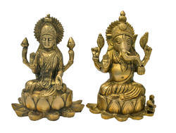 Lakshmi Ganesh God Idol Brass Set By JY68