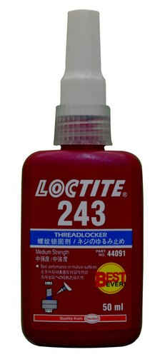 Industrial Grade Loctite 243 Threadlocker, Packaging Size: 250 mL
