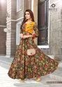 Designer Printed Gown