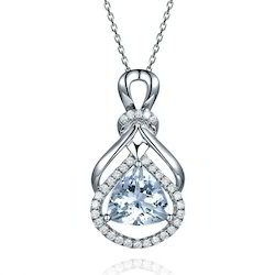 Natural Blue Sapphire Gold Pendant