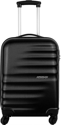 black american tourister polyester 55 cms hard trolley bag rs 7200