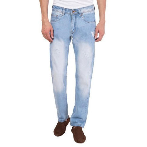 Blue Denim Mens Ripped Jeans acddf1adc20