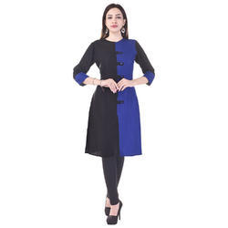 Straight Double Colour Cotton Kurtis