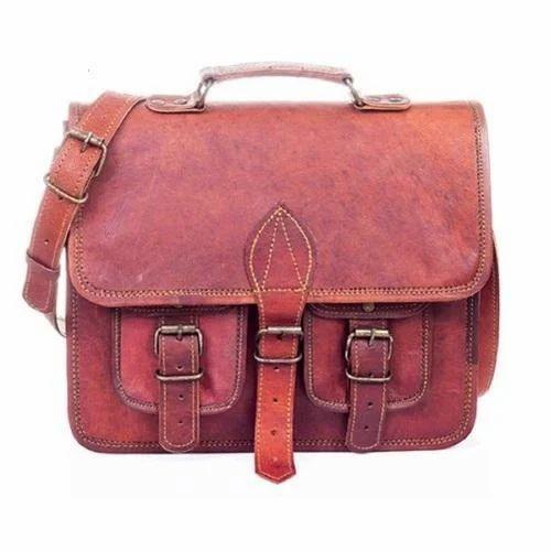 fa3ff39ba7 Brown Leather 13 Inch Messenger Bag Boys Girls