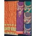 Ladies Embroidered Silk Suit Material