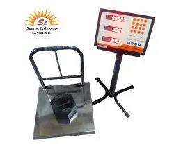 SUNRISE Platform Scale 400x400 SS with Price Computing Scale 200 Kg, for Weighing