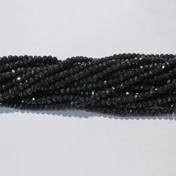 Black Spinel Faceted Gemstone Beads