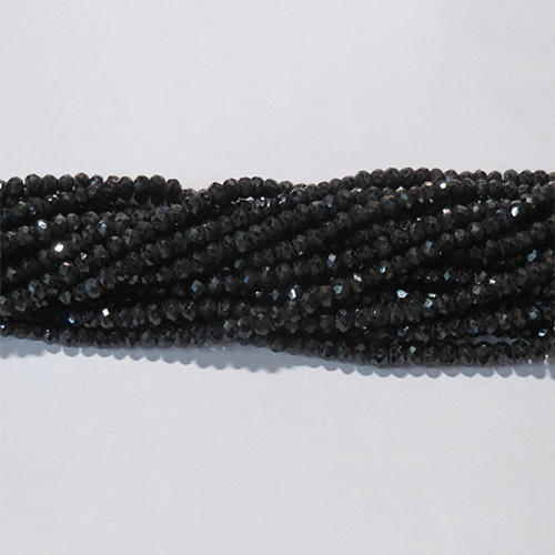 Black Spinal Beads,Gemstone Beads,Stone Beads,Faceted Beads,Roundel Beads,Beads Necklace,Jewellery making,Jewelry Beads,Gemstone beads