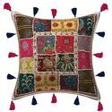 Abstract Patchwork Tasseles Cushion Cover