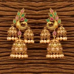 Wedding Women Antique Peacock Earring With Gold Plating 200504