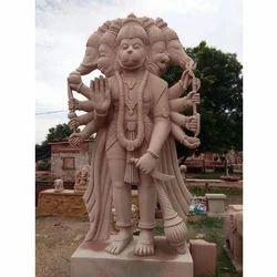 Panchmukhi Hanuman Stone Statue, Size: 3x6.25 Feet