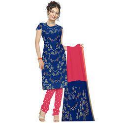 Blue Bandhani Suit