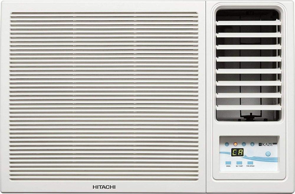 Hitachi 1 Ton 5 Star Window AC, White, Copper Condenser, RAW511KUD