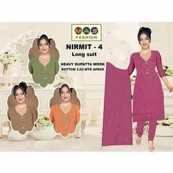 Mas Fashion Cotton Ladies Designer Long Suit, Dry clean