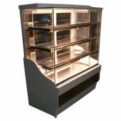 SSE Rectangle Stainless Steel Display Counter, For Hotel