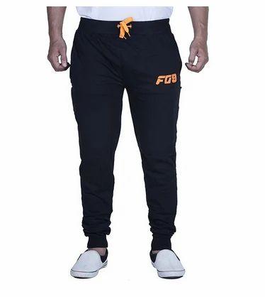 a0c1e4c1cf8e Mens Regular Fit Cotton Track Pant Black Orange at Rs 499  piece ...