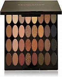 Makeup Revolution London 32 Flawless Eyeshadow Palette, Multi-Color, 16g