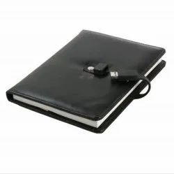 Leather Diary  /  Notebook with USB Pen Drive