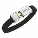 Black Leather Bracelet Pen Drive, Memory Size: 4 To 32 Gb