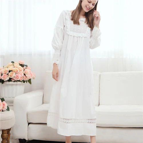 919621fe67 White Cotton Nightgown
