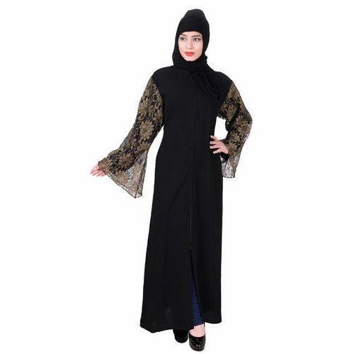 Casual Wear Black Fashionable Islamic Abaya, Rs 800 /piece | ID ...